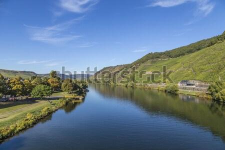 Colline romantica fiume bordo estate fresche Foto d'archivio © meinzahn