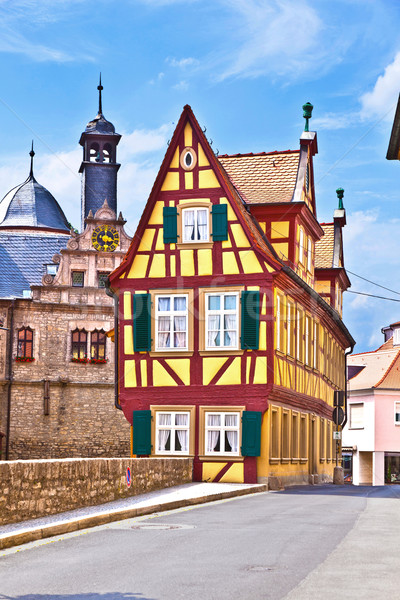 scenic historic houses in Marktbreit Stock photo © meinzahn