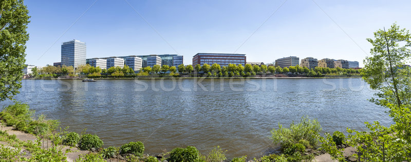 Ver rio principal bancos Frankfurt ocidente Foto stock © meinzahn