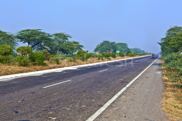 Vuota autostrada mattina India moderno km Foto d'archivio © meinzahn