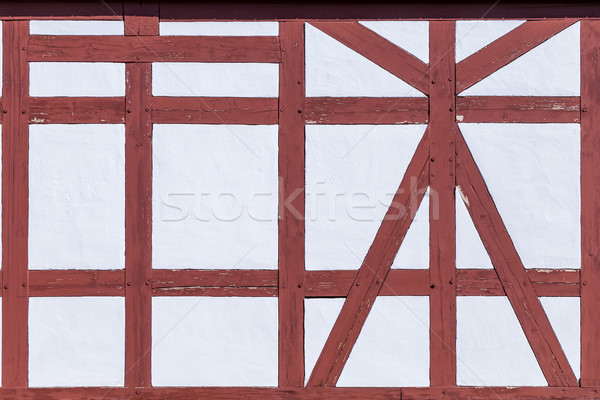 old vintage half timbered house wall Stock photo © meinzahn