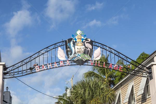 Signo pueblo clave oeste casa palma Foto stock © meinzahn