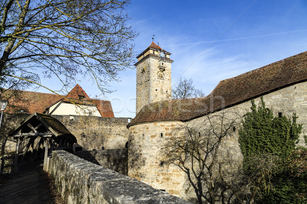 Panoramique vue médiévale ville ville été Photo stock © meinzahn