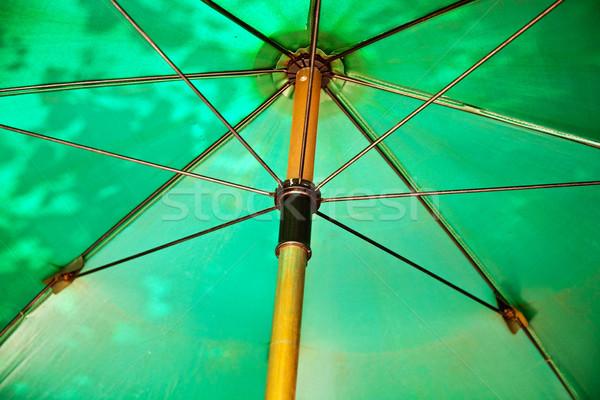 Nyitva esernyő védelmez nap nap elleni védelem Ázsia Stock fotó © meinzahn