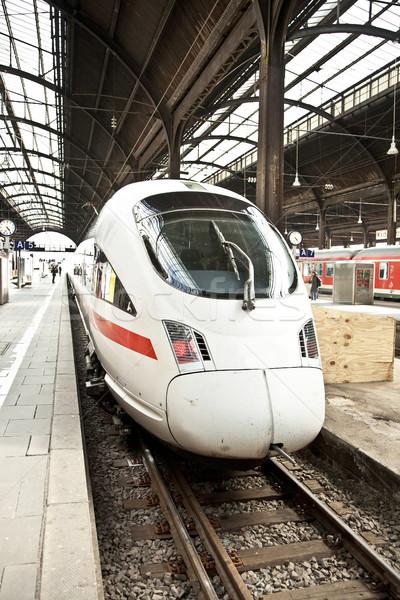 highspeed train in station Stock photo © meinzahn