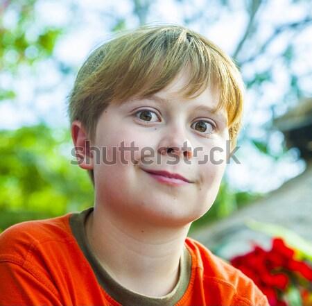 boy shows his tongue Stock photo © meinzahn