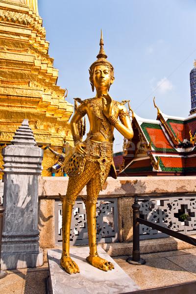 Mythologie cijfer kijken tempel kunst gebouwen Stockfoto © meinzahn