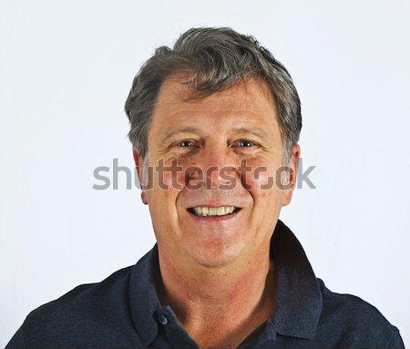 Puce séduisant homme studio isolé blanche Photo stock © meinzahn