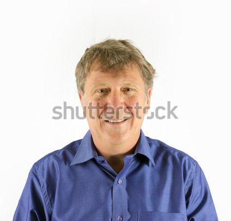 man in blue shirt Stock photo © meinzahn