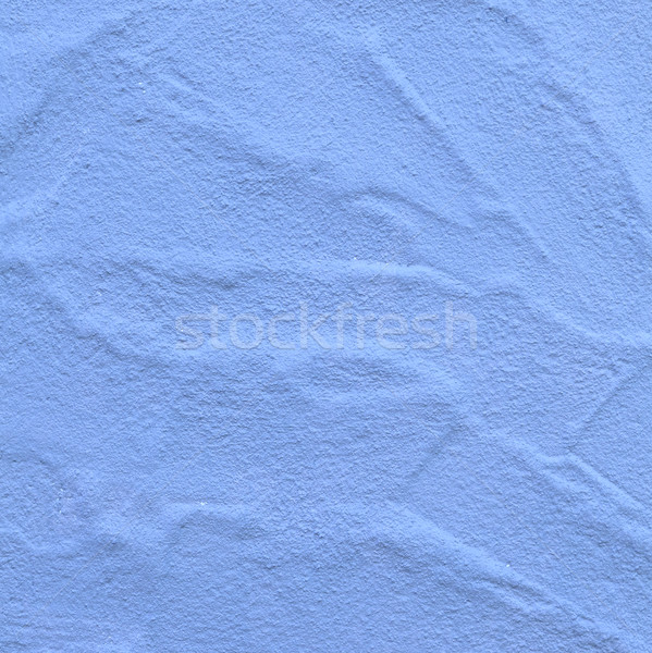 Oude Blauw muur geschilderd harmonisch patroon Stockfoto © meinzahn