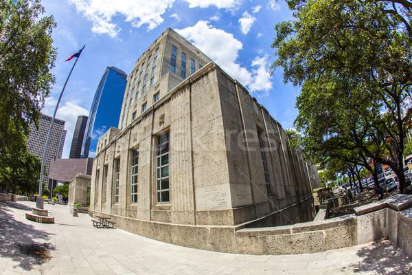 şehir salon Houston eski binalar Stok fotoğraf © meinzahn