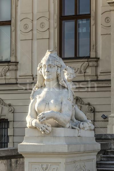 Rzeźba pałac lata Wiedeń Austria zamek Zdjęcia stock © meinzahn