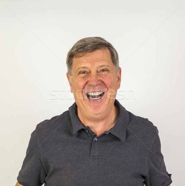 élégant milieu âge homme studio portrait Photo stock © meinzahn