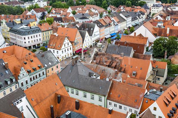 średniowiecznej w. widoku miasta dachu piękna Zdjęcia stock © meinzahn