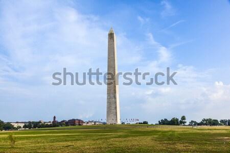 Washington Monument noto cielo blu cielo albero città Foto d'archivio © meinzahn