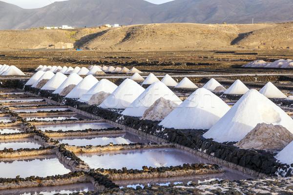 Stockfoto: Zout · raffinaderij · Spanje · bouw · oceaan · meer