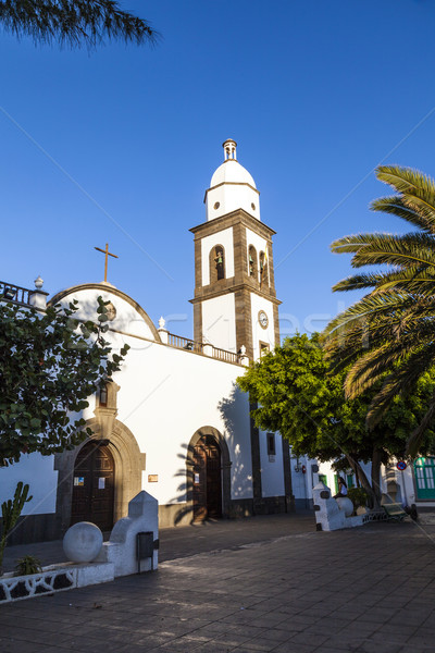 beautiful church San Gines Obispo in Arrecife Stock photo © meinzahn