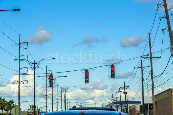 Trafik düzenleme Amerika trafik ışıkları araba bulutlar Stok fotoğraf © meinzahn