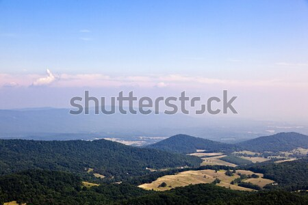 Stock photo: Beautiful view of the popular Blue Ridge  Mountain