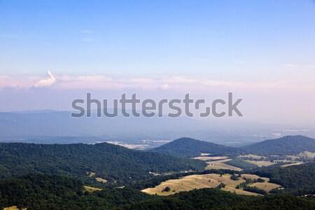 Beautiful view of the popular Blue Ridge  Mountain Stock photo © meinzahn