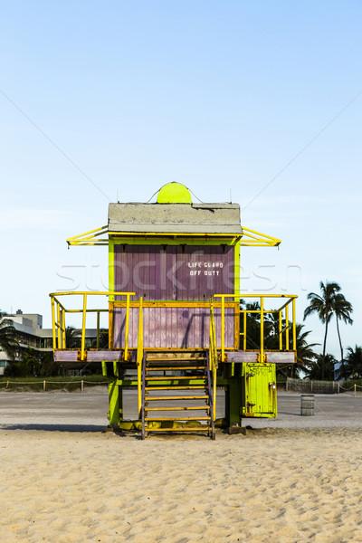 élet őr torony dél tengerpart Miami Stock fotó © meinzahn