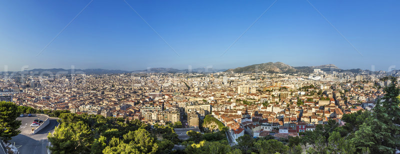 View of Marseille from Notre-Dame de la Garde - France Stock photo © meinzahn