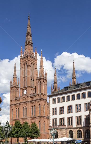 Marktkirche in Wiesbaden Stock photo © meinzahn