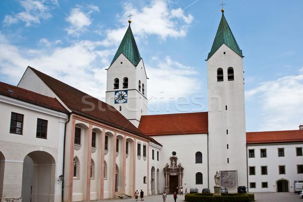 Słynny kopuła niebo kościoła niebieski budynków Zdjęcia stock © meinzahn