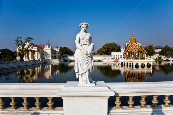 Dame Statue Knall Schmerzen Palast weiß Stock foto © meinzahn