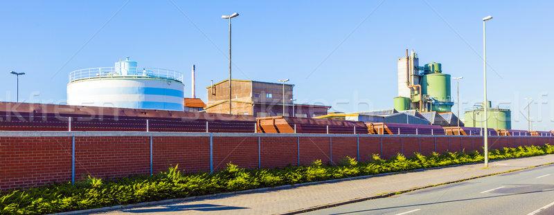 Industria parque borde del camino producción casa pared Foto stock © meinzahn