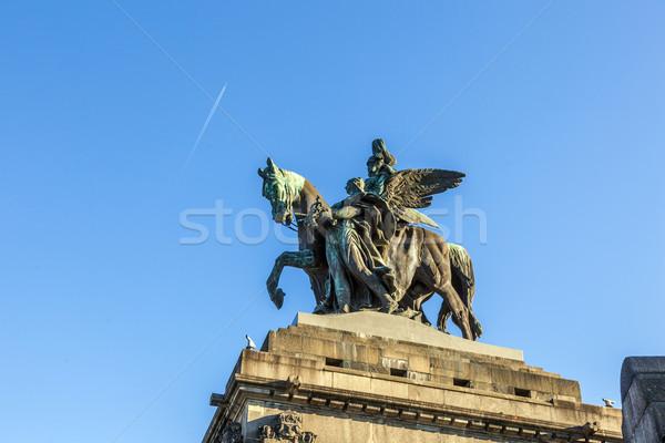 Monument to Kaiser Wilhelm I (Emperor William) on Deutsches Ecke Stock photo © meinzahn