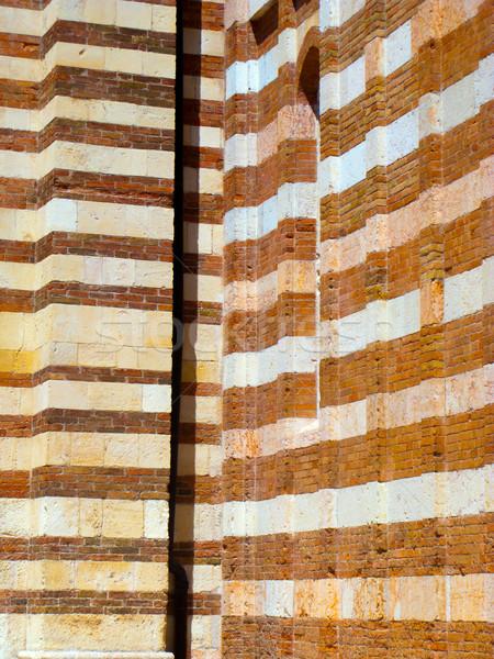 Pormenor igreja verona Itália fundo janela Foto stock © meinzahn