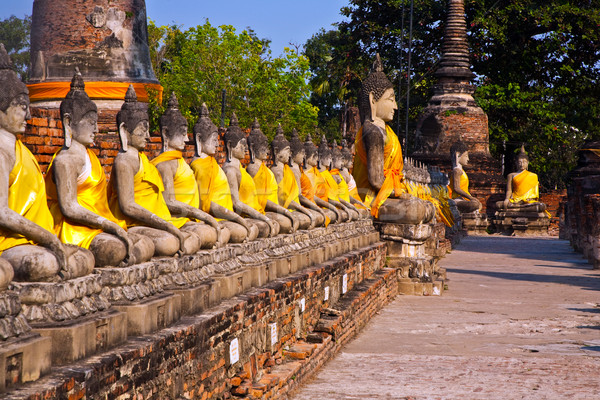 Buda templo Bangkok Tailandia piedra paz Foto stock © meinzahn