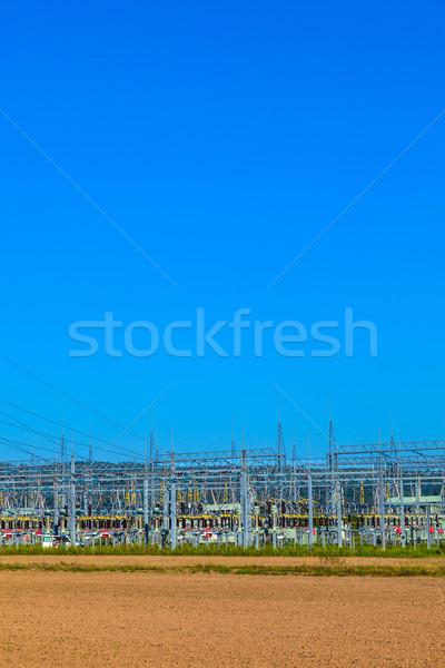 Elettriche centrale elettrica bella colorato prato Foto d'archivio © meinzahn