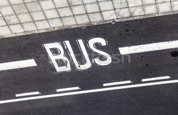 bus  sign painted on the asphalt Stock photo © meinzahn