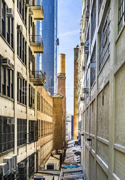 Utcakép környék New York New York USA égbolt Stock fotó © meinzahn