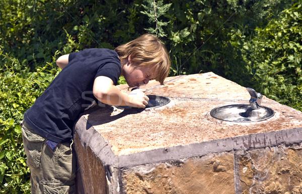 Boy is drinking water Stock photo © meinzahn