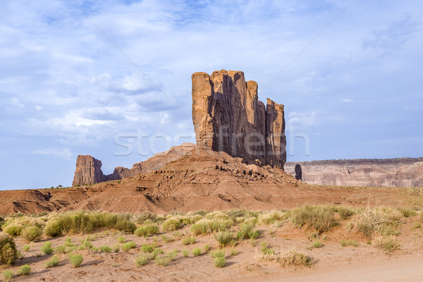 Camel Butte is a giant sandstone formation in the Monument valle Stock photo © meinzahn