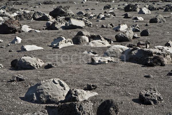 Vulkanisch stenen strand formatie vulkaan natuur Stockfoto © meinzahn