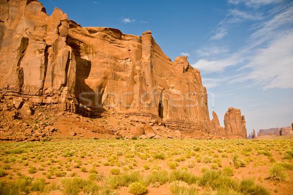 butte in daytime in Monument Valley  Stock photo © meinzahn