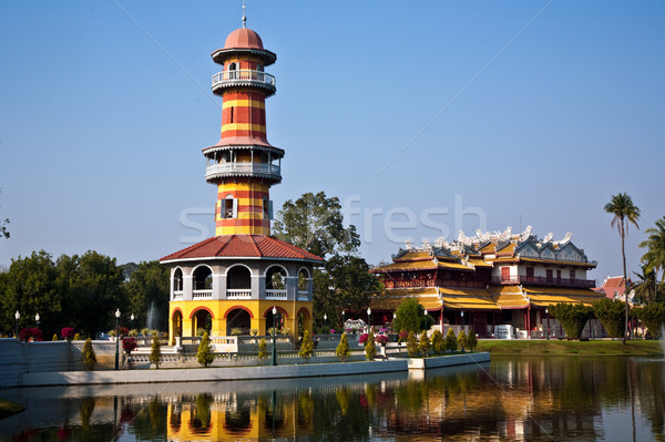 The Royal Residence (Phra Thinang) and Sages Lookout Tower (Ho W Stock photo © meinzahn
