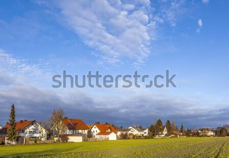 Мюнхен новых полях солнце пейзаж Сток-фото © meinzahn