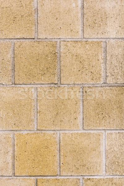 Patroon muur harmonisch pleinen licht oranje Stockfoto © meinzahn