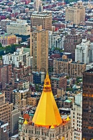 Légi panorámakép kilátás Manhattan Empire State Building felső Stock fotó © meinzahn