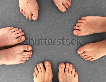 семьи пляж ног Постоянный вместе детей Сток-фото © meinzahn