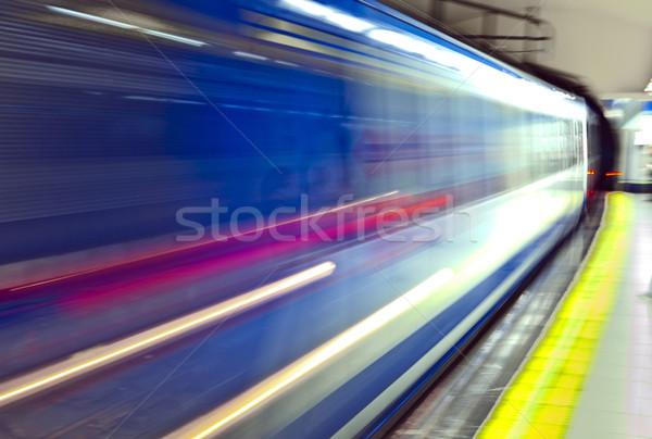 地下鉄 マドリード 地下 列車 運動 スペイン ストックフォト © meinzahn