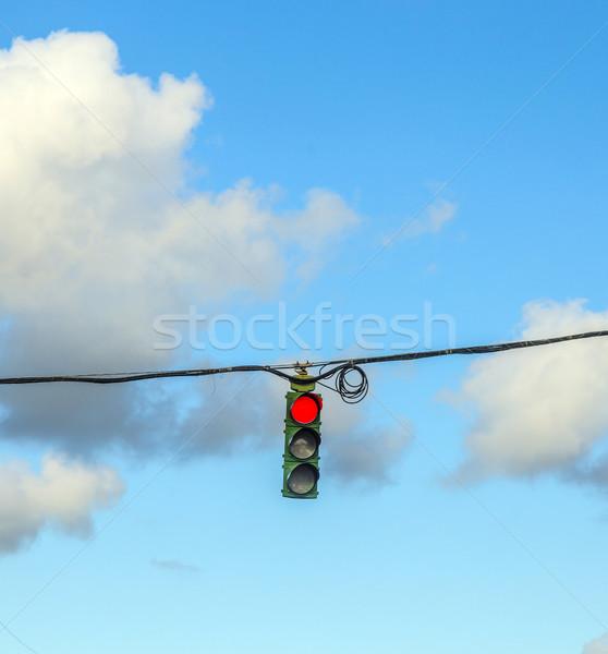 движения регулирование Америки светофор автомобилей облака Сток-фото © meinzahn