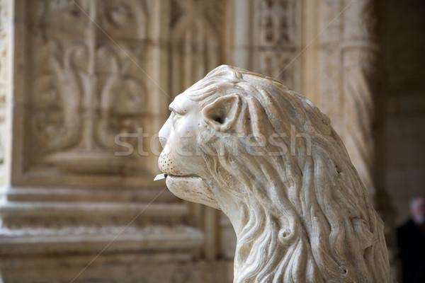 water lion in the beautiful Jeronimos Monastery in Lisbon, Belem Stock photo © meinzahn