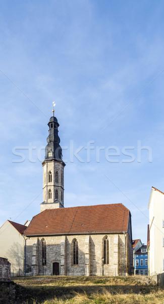 Kilátás Németország templom épít középkor út Stock fotó © meinzahn