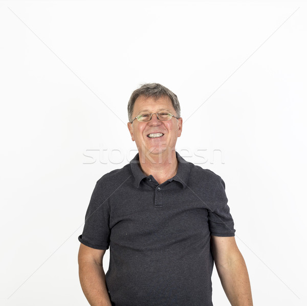 Accueillant souriant homme portrait sourire visage Photo stock © meinzahn